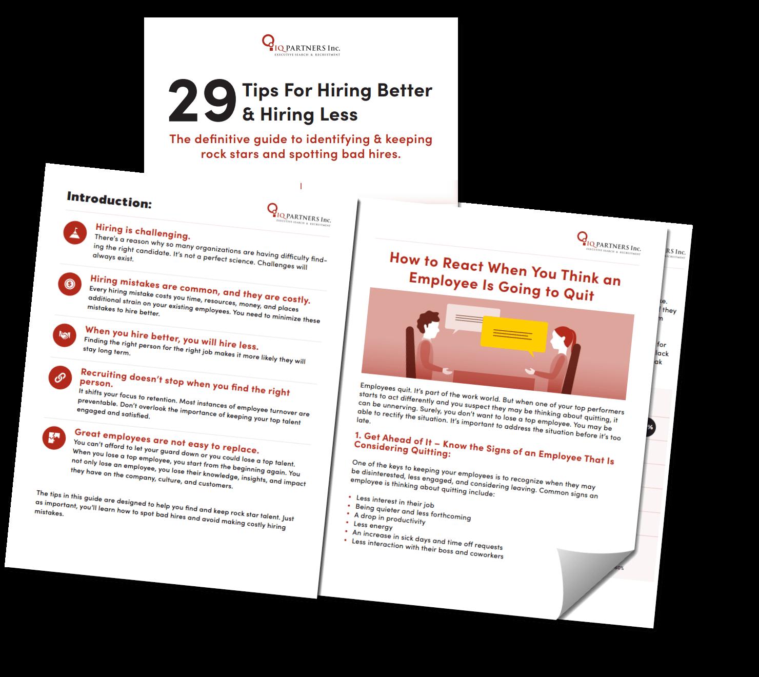 29 Tips For Hiring Better & Hiring Less